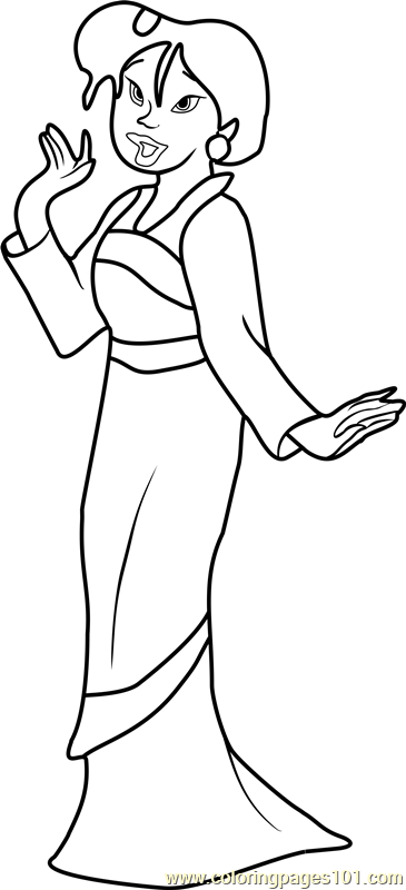 Princess Su Coloring Page