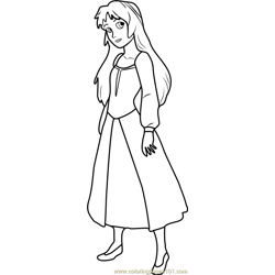 Princess Eilonwy coloring page