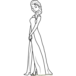 Princess Elsa coloring page