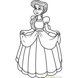 Princess Melody Free Coloring Page for Kids