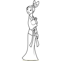 Princess Ting-Ting Free Coloring Page for Kids