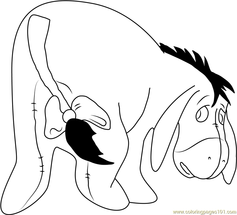 Eeyore In Winnie The Pooh Coloring Page Free Eeyore Coloring Pages