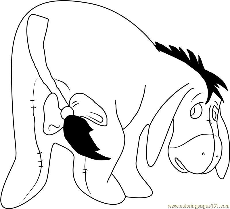 Eeyore in Winnie the Pooh Coloring