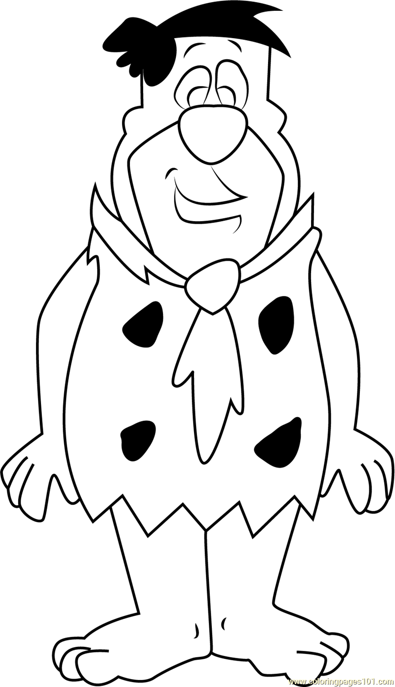 - Fred Flintstones Looking At You Coloring Page - Free Fred