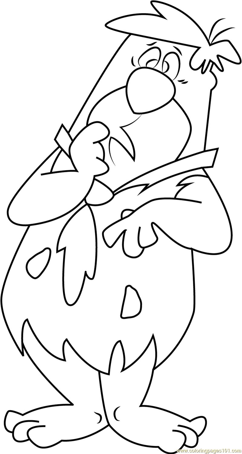 Fred Flintstones Thinking Coloring Page