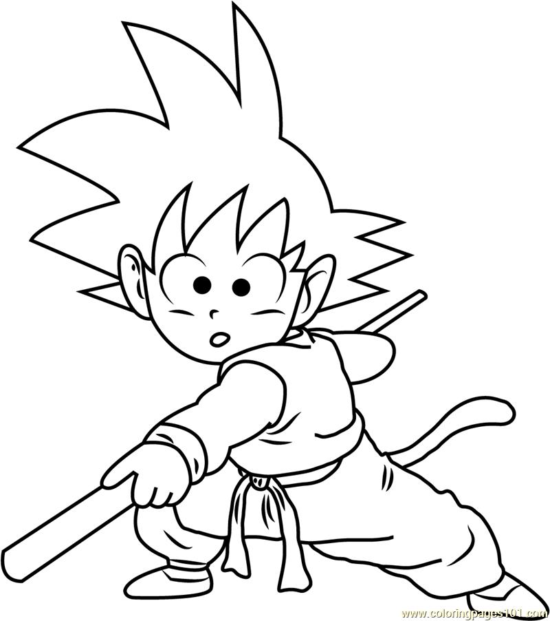 Goku Coloring Page Free Goku