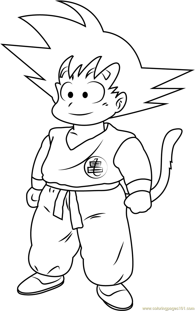 Goku in Dragon Ball Coloring Page - Free Goku Coloring Pages ...