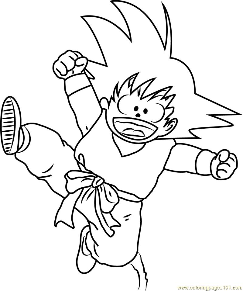 goku printable coloring pages - kid goku coloring page free goku coloring pages