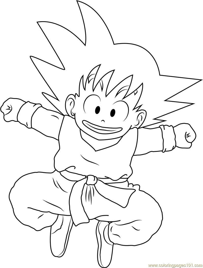 Smiling goku coloring page free goku coloring pages for Kid goku coloring pages