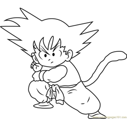 Goku Ready to Fight
