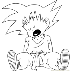 Goku Sleeping coloring page