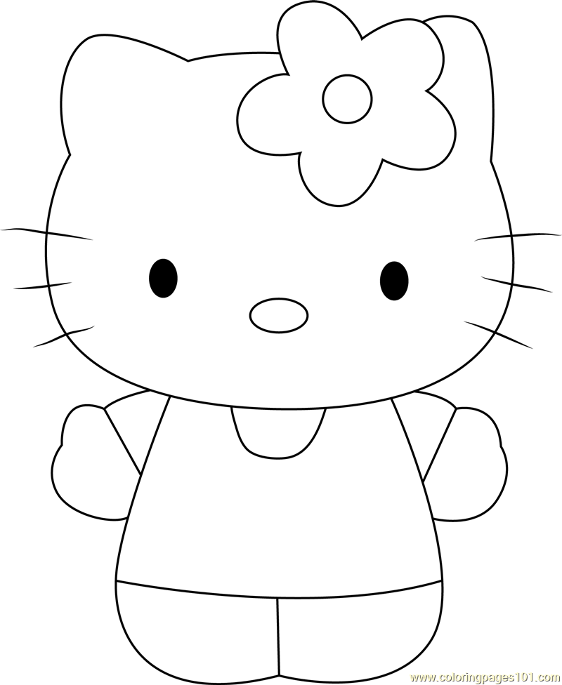 Hello Miss Kitty Coloring Pages : Miss white coloring page free hello kitty pages