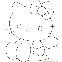 Look Me Free Coloring Page for Kids