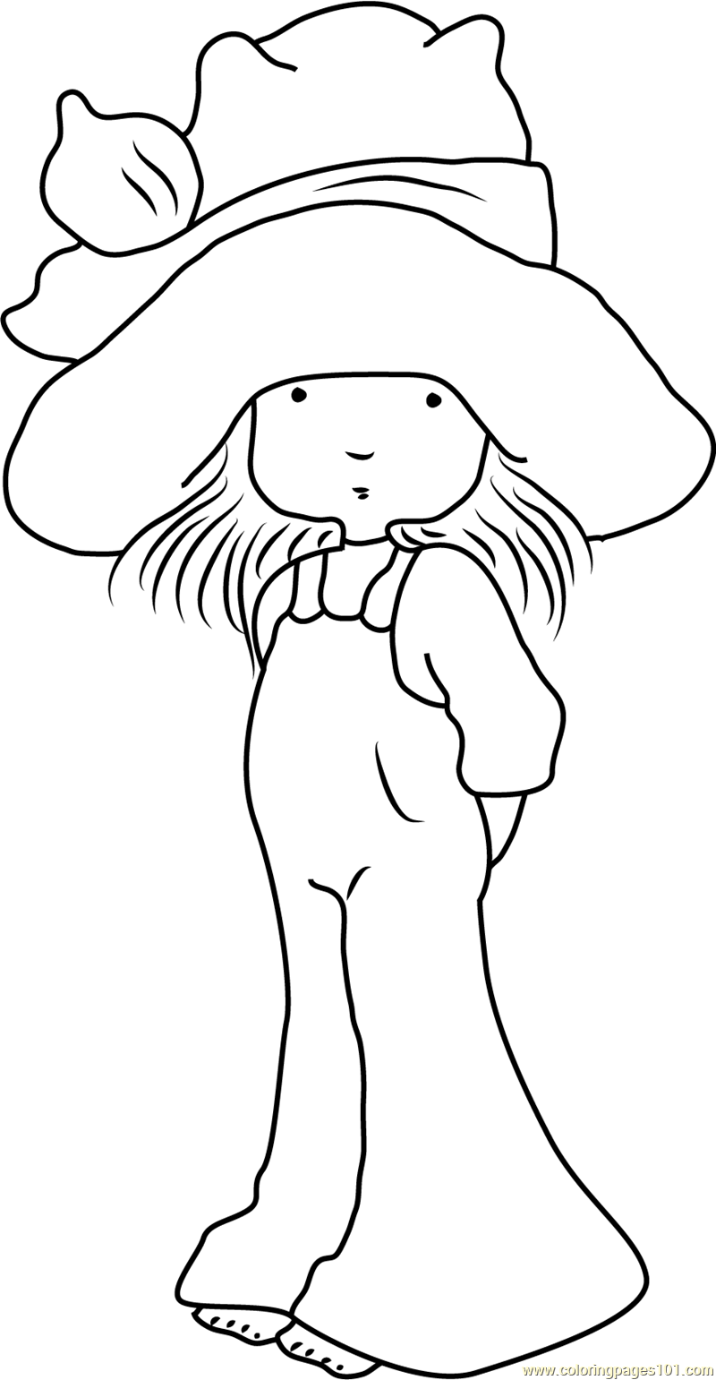 Cute holly hobbie coloring page free holly hobbie for Holly hobbie coloring pages