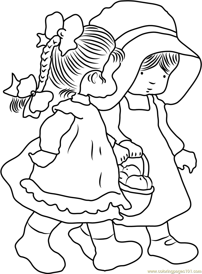 Holly Hobbie Friend Coloring Page - Free Holly Hobbie Coloring Pages ...