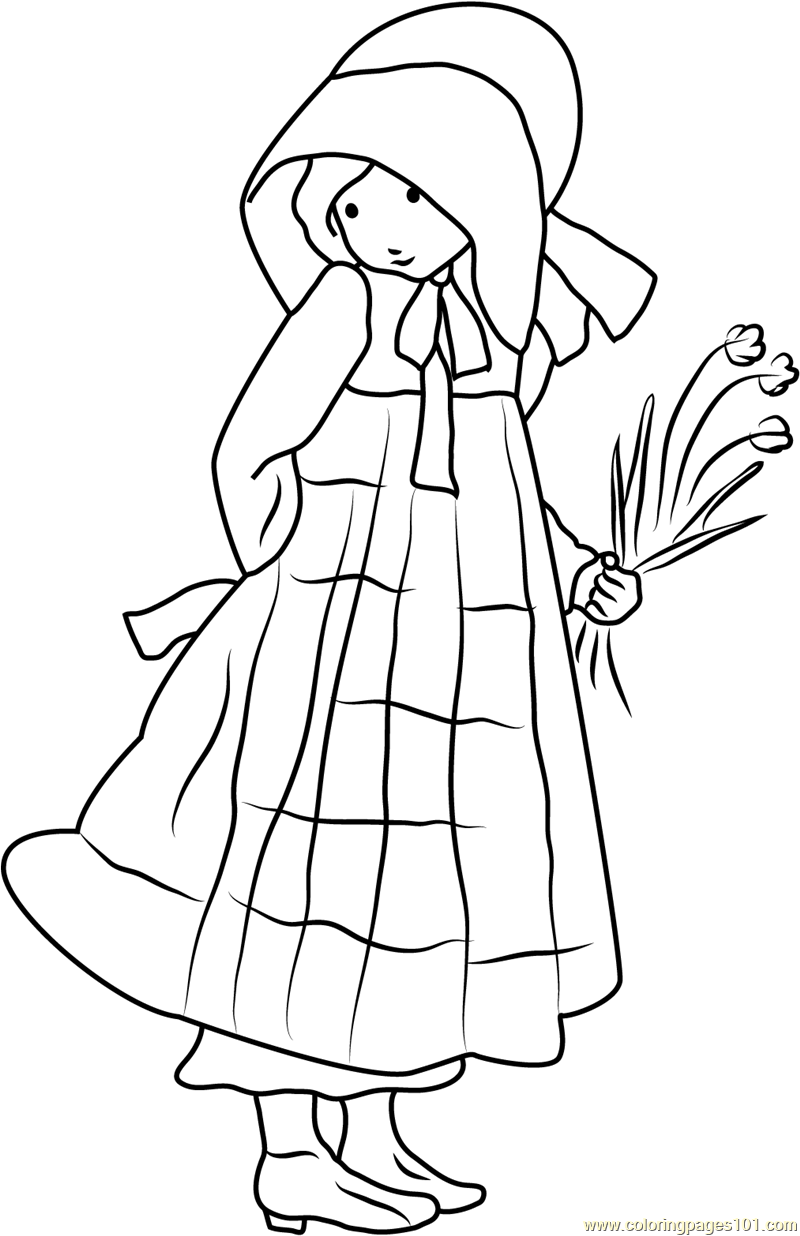 Holly Hobbie See Back Coloring Page Free Holly Hobbie