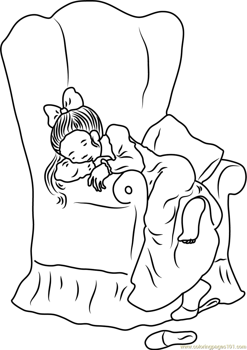 holly hobbie sleeping on chair coloring page free holly hobbie