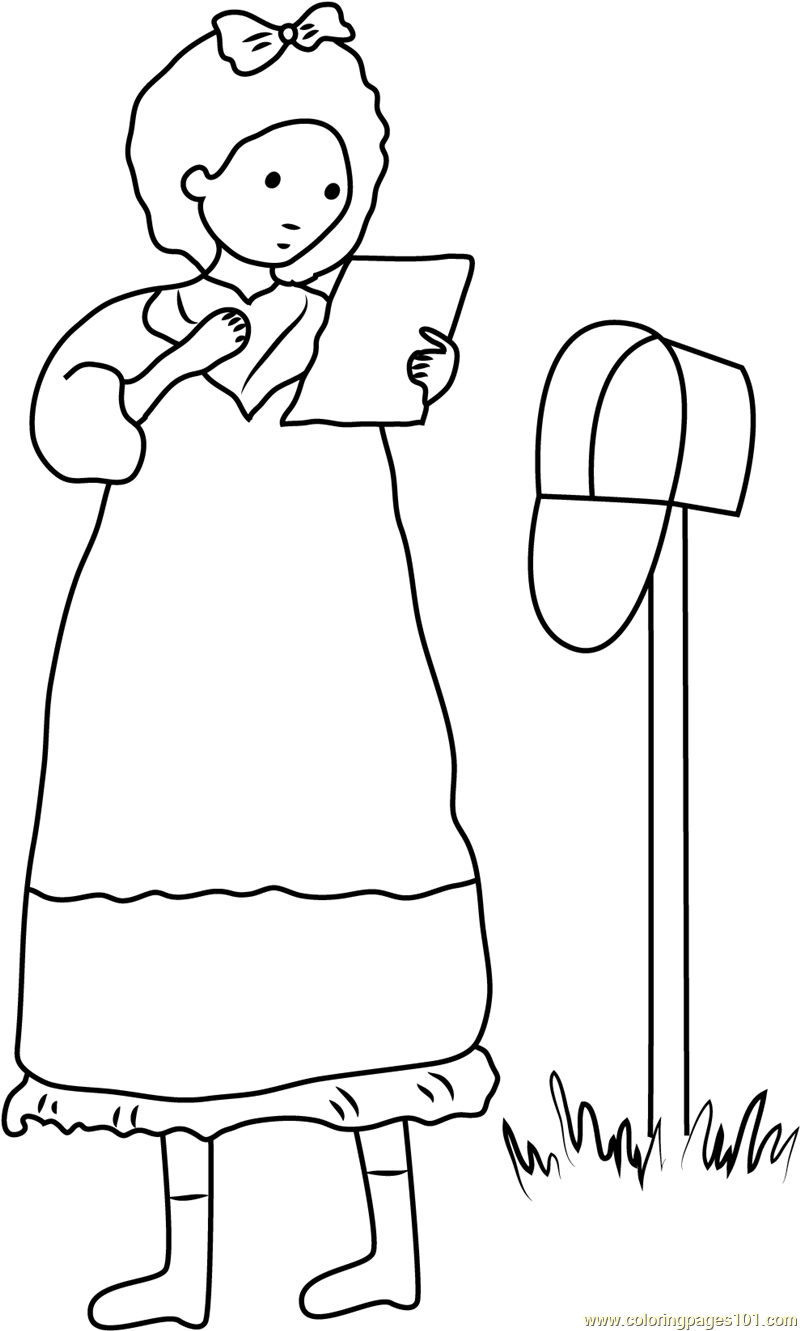 Holly Hobbie see Letter Coloring Page