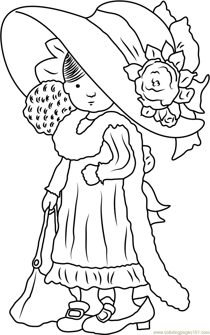 Sweet Holly Hobbie Coloring Page Free Holly Hobbie Coloring Pages