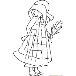 Holly Hobbie See Back coloring page