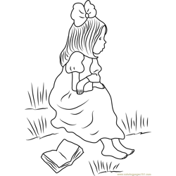 Holly Hobbie Sitting and See coloring page