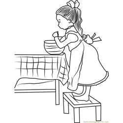 Holly Hobbie Work in Home Free Coloring Page for Kids