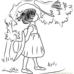 Holly Hobbie see Bird Nest Free Coloring Page for Kids