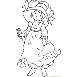 Lovely Holly Hobbie Free Coloring Page for Kids