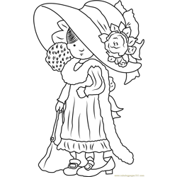 Sweet Holly Hobbie Free Coloring Page for Kids