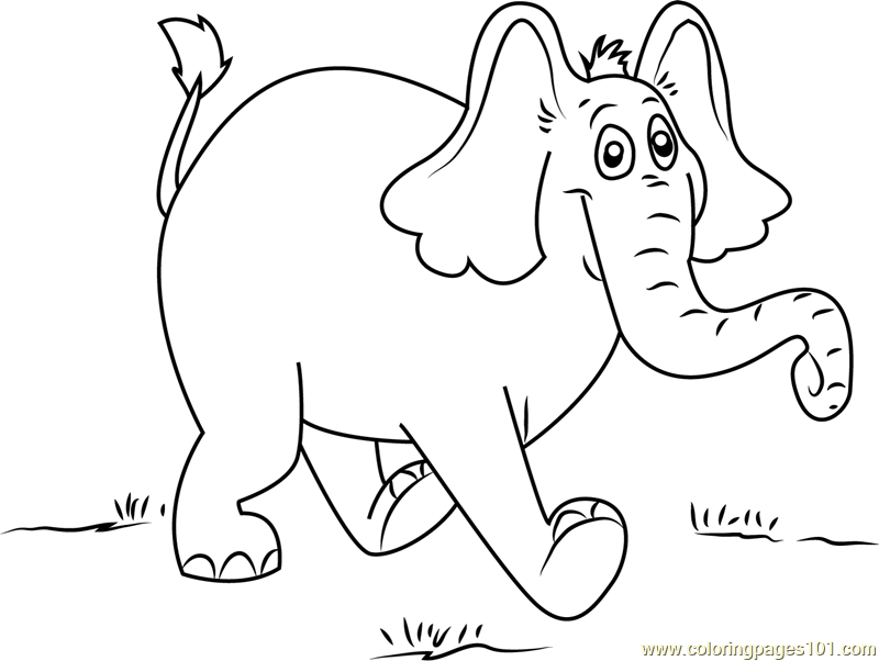 Horton Walking Coloring Page