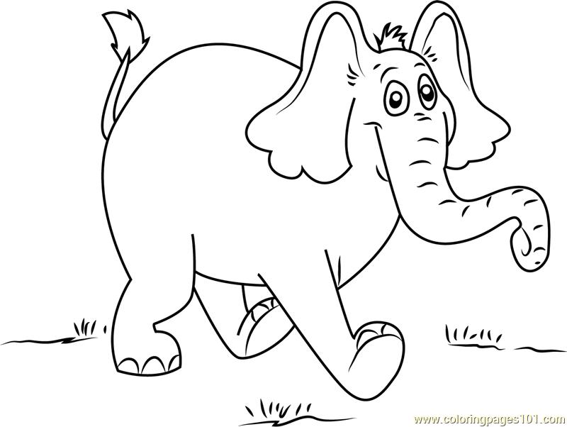 Horton Walking Coloring Page