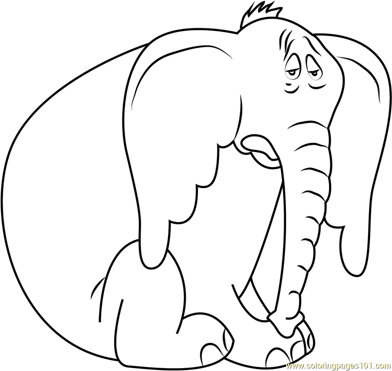 Sad Horton Coloring Page - Free Horton Coloring Pages ...