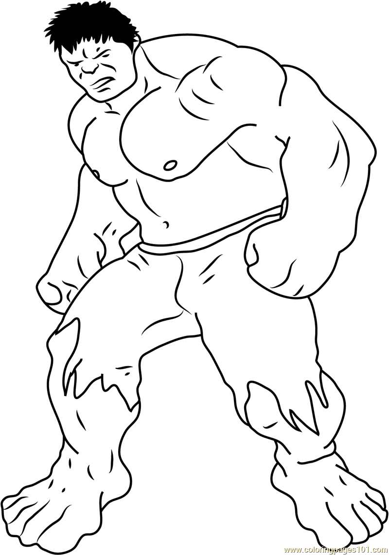 Avengers Hulk By Steven Coloring Page Free Hulk Coloring