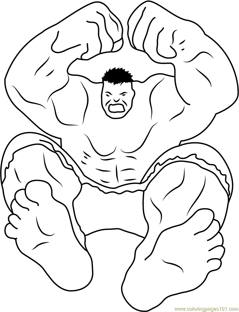 Hulk Smash Coloring Page