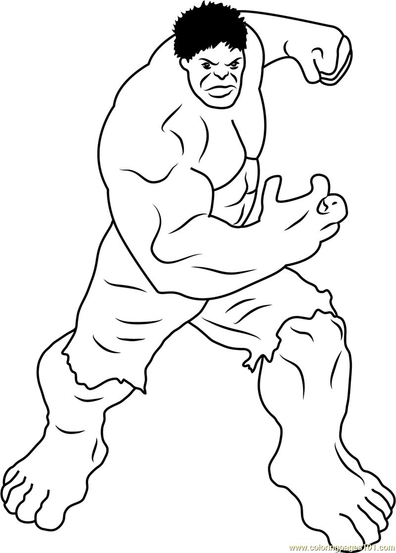 Incredible Hulk Coloring Page Free Hulk Coloring Pages Coloringpages101 Com