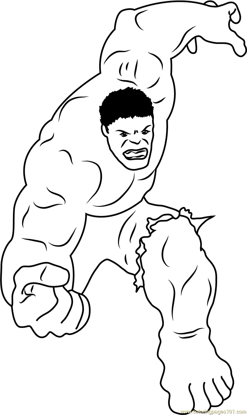 Marvel Comics Character Coloring Page