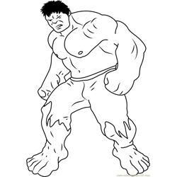 Avengers Hulk by Steven Free Coloring Page for Kids