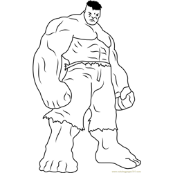 Furious Hulk Free Coloring Page for Kids