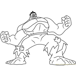 Hulk Green Monster Free Coloring Page for Kids