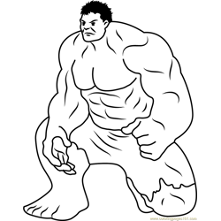 Hulk Smash by Lanbow Free Coloring Page for Kids