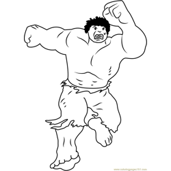Hulk Free Coloring Page for Kids