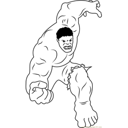 Marvel Comics Character Free Coloring Page for Kids