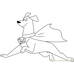 Krypto Super Dog Free Coloring Page for Kids
