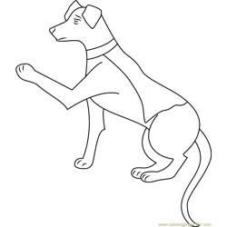 Krypto by Nerisa Free Coloring Page for Kids