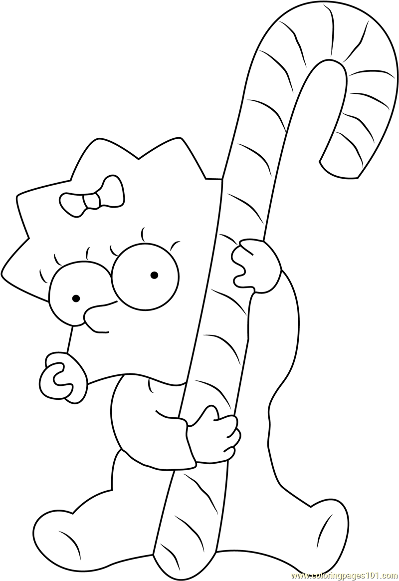 Maggie Simpson Coloring Pages The Simpsons Sketch Coloring ...