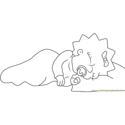 Sweet Dreams Free Coloring Page for Kids