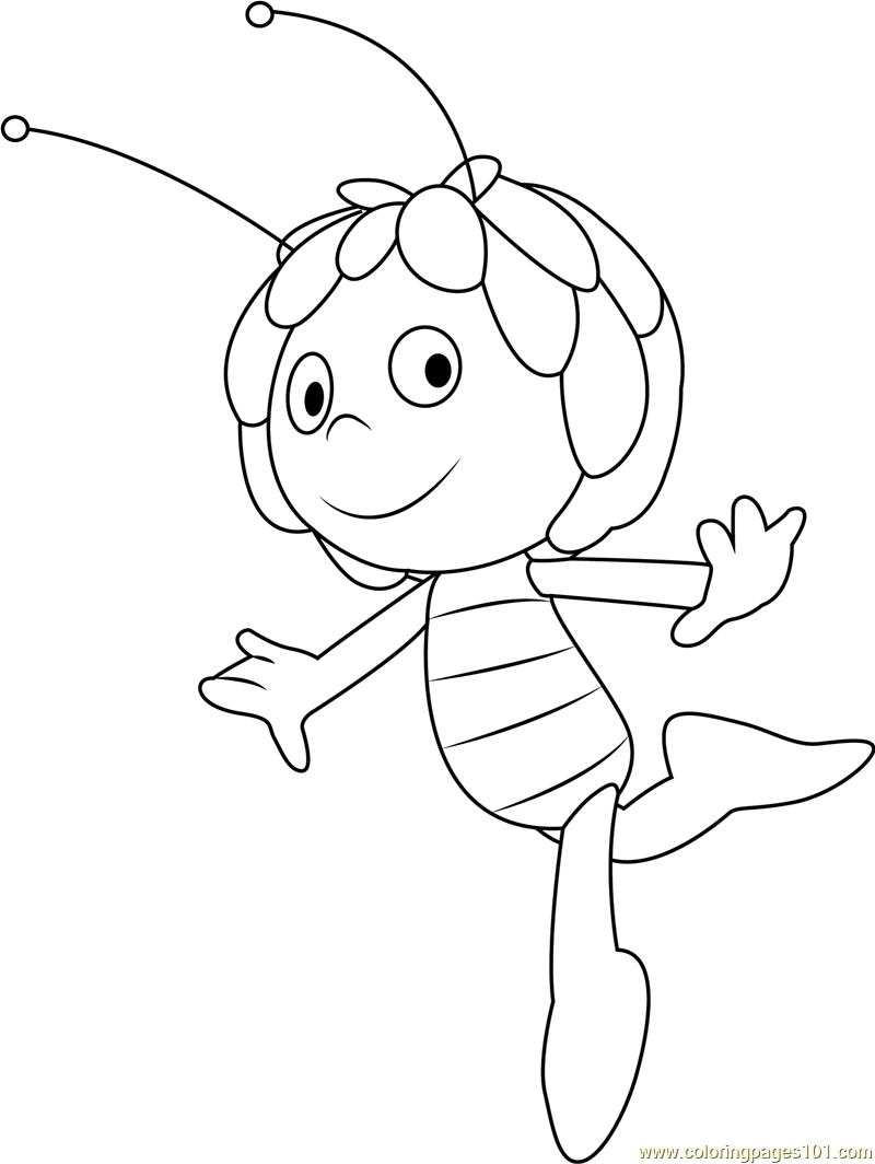 Happy Maya Coloring Page