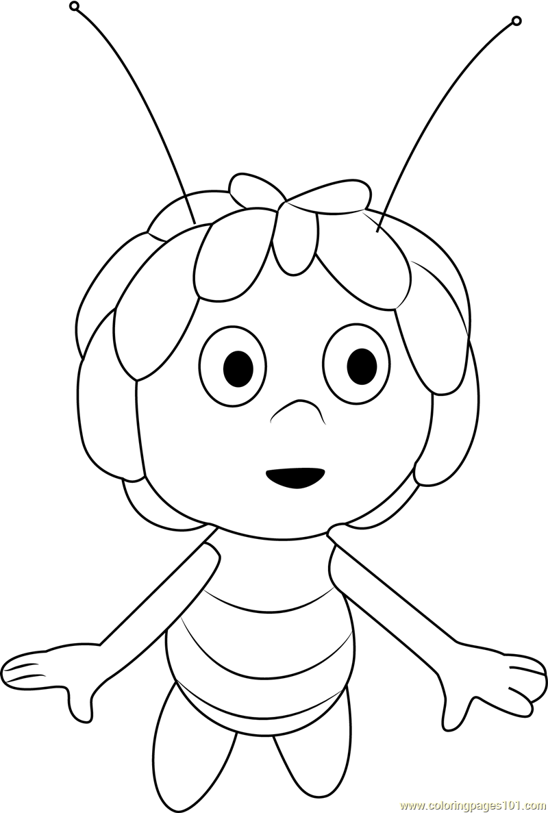 Maya Flying Coloring Page