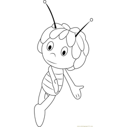 Cute Maya Free Coloring Page for Kids