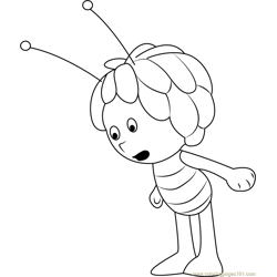 Maya Looking Something Free Coloring Page for Kids